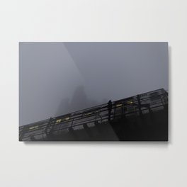 Tracy Towers on the Fog Metal Print