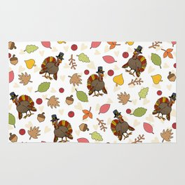 Thanksgiving Turkey pattern Rug