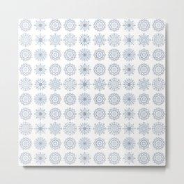 First Snowfall, winter snowflakes Metal Print