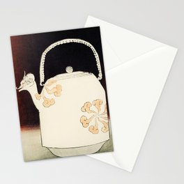 12,000pixel-500dpi - Watanabe Seitei - Teapot - Japanese traditional pattern design Stationery Cards
