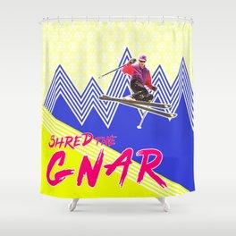 Shred the GNARski 04 Shower Curtain