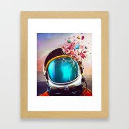 Mental Eruption Framed Art Print