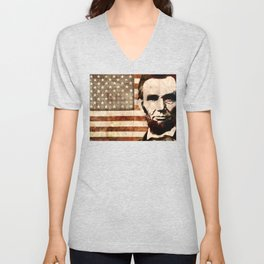 Abraham Lincoln Unisex V-Neck