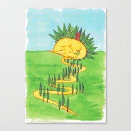 Sleeping Dragon Canvas Print
