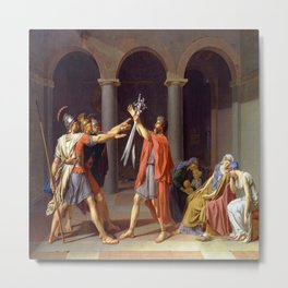 Jacques-Louis David's The Oath of Horatii Metal Print
