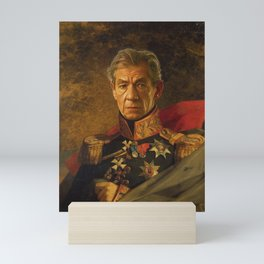 Sir Ian McKellen - replaceface Mini Art Print