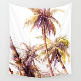 Palm Trees, coconut palms tropical beach palm tree Wall Tapestry