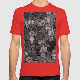 Heavy iron / 3D render of hundreds of heavy weight plates T-shirt