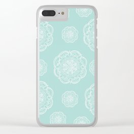 Mint Romantic Flower Mandala Pattern #2 #decor #art #society6 Clear iPhone Case