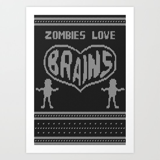 Zombie knitwear Art Print
