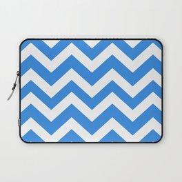 Bleu de France - turquoise color - Zigzag Chevron Pattern Laptop Sleeve