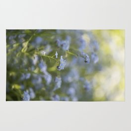 Forget me not in LOVE - Blue Flower Floral Spring Flowers on #Society6 Rug