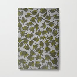 Leaves - Pattern Design - Wild Veda Metal Print