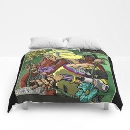 L'ermitage Steampunk Art Nouveau robot Comforters