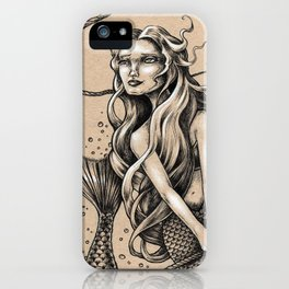 Mermaid with Rope iPhone Case