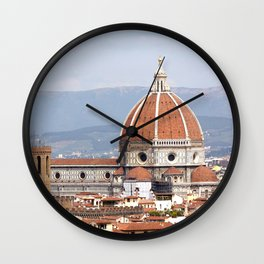 Florence cathedral dome photography Wall Clock