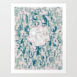 overwhelm I Art Print