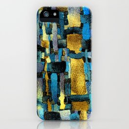 Gold and Turquoise iPhone Case