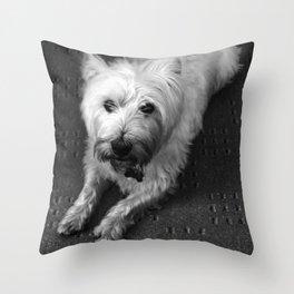 Odie (B/W) Throw Pillow