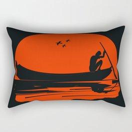 fisherman silhouette Rectangular Pillow