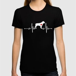 Rottweiler dog heartbeat T-shirt