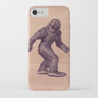 bigfoot iPhone & iPod Cases featuring Bigfoot by Cat & Mouse