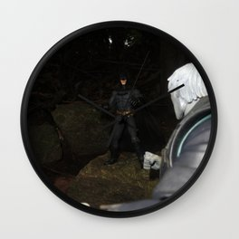 THE BAT VS THE DEAD MAN Wall Clock