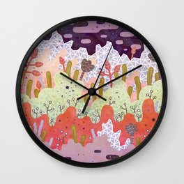 Crystal Forest Wall Clock