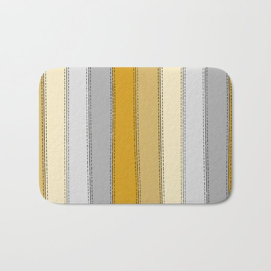 Yellow Lines Bath Mat