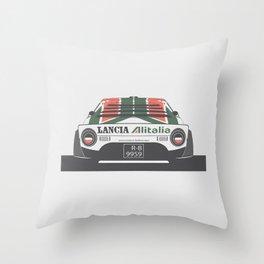Lancia Stratos Rear Throw Pillow