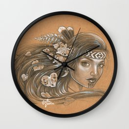 Papatuanuku - Our Medicine Woman Wall Clock