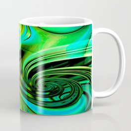 Curls Deluxe Green Coffee Mug