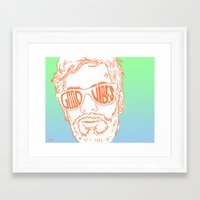 good vibes Framed Art Prints featuring GOOD VIBES by YTRKMR