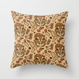 Squirrel eating peanuts Throw Pillow