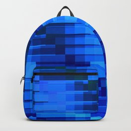 Buildings At Night In Blue Modern Abstract Backpack