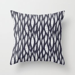Quail Feathers (Midnight) Throw Pillow