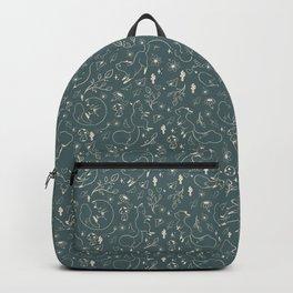 Fox beige on green background Backpack