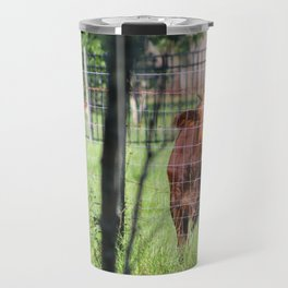 Cow Beyond the Fence Travel Mug