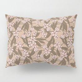 Sakura Branch Pattern - Pale Dogwood + Hazelnut Pillow Sham