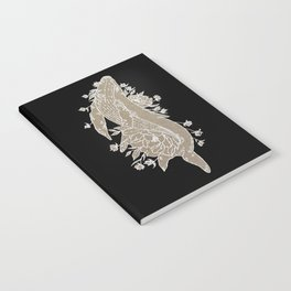 Floral Whale Design Notebook