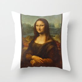 Portrait of Lisa Gherardini (Mona Lisa) Throw Pillow