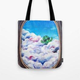 Cloud Surfing Cactus Tote Bag