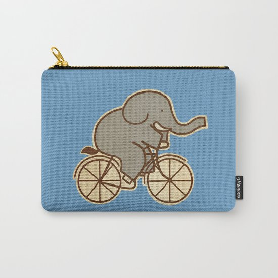 Elephant Cycle - colour option Carry-All Pouch