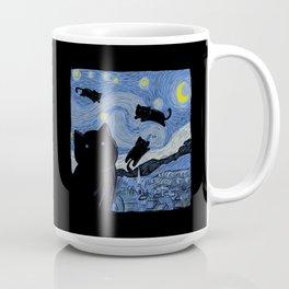 The Starry Cat Night Coffee Mug