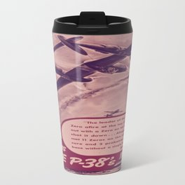 Vintage poster - Give Us More P-38's Travel Mug