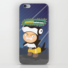 The Great Hammerheadman iPhone Skin