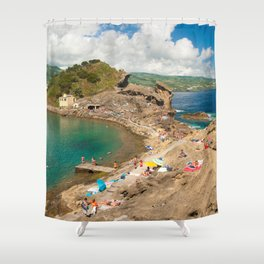 Sunbathing at the islet Shower Curtain