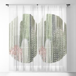 Circular Cacti Sheer Curtain