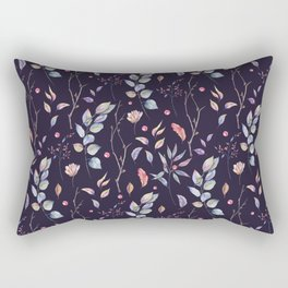 Watercolor natural pattern with twigs Rectangular Pillow