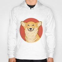 corgi Hoodies featuring Corgi by Greving Art